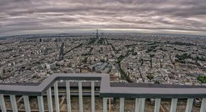 Paris, France. Paris  panoramic cityscape with grunge style dark scene Royalty Free Stock Photo