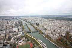 Paris, France from above royalty free stock photo