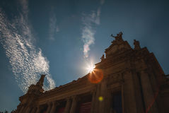 PARIS - FRANCE - 30 AOÛT 2015 : Grand palais grand célèbre de Palais à Paris Image stock