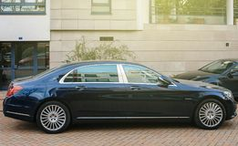 Luxury blue Mercedes-Maybach s600 limousine Royalty Free Stock Photography