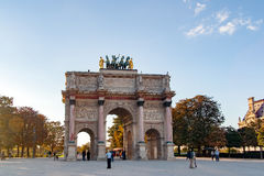 PARIS, FRANCE APRIL 22. Arc de Triomphe du Carrousel. Between Place du Carrousel and the Tuileries garden Royalty Free Stock Images