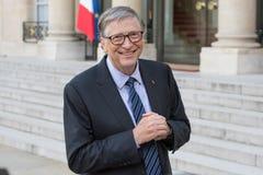 PARIS, FRANCE - APRIL 16, 2018 : Bill Gates at the Elysee Palace