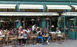 Chez Jenny is the legendary and famous Alsatian brasserie located on Republique square in Paris, France. Paris, France-April 07,2018 : Chez Jenny is famous Stock Images