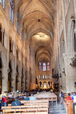 PARIS, FRANCE, 23 April 2016. Details Interior of the Cathedral of Notre Dame. Stock Image