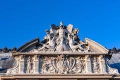 PARIS, FRANCE - april 22, 2016:The Louvre palace  Royalty Free Stock Photos