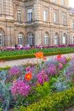 Paris, France - APRIL 9, 2019: Luxembourg Garden. Beatiful Tulips. Paris, France. Europe royalty free stock photography
