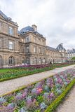 Paris, France - APRIL 9, 2019: Luxembourg Garden. Beatiful Tulips. Paris, France. Europe stock photography