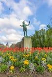 Paris, France - APRIL 9, 2019: Luxembourg Garden. Beatiful Tulips. Paris, France. Europe stock image