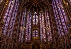 Paris, France, April 1, 2017: The Sainte Chapelle Holy Chapel in Paris, France. Royalty Free Stock Photo