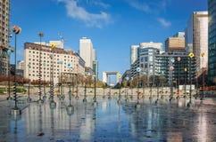 Le Bassin, Takis installation in La Defense district in Paris Stock Images