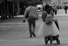 The tulle skirt royalty free stock images