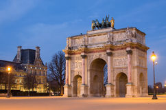 Paris (France) Arc de Triomphe du Carrossel Fotos de Stock Royalty Free