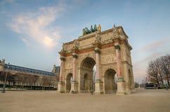 Paris (France) Arc de Triomphe du Carrossel Fotografia de Stock Royalty Free