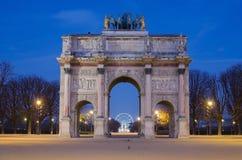 Paris (France). Arc de Triomphe du Carrousel Stock Photography