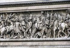 Arc De Triomphe-Frieze. Paris, France - 05/10/2010 -  Arc De Triomphe-Frieze Royalty Free Stock Photo