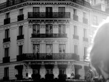 Paris, France architecture street shot lighting black and white. Paris, France architecture street shot black and white Royalty Free Stock Photography