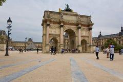 Paris. FRANCE, August 9, 2014: Arc de Triomphe du Carrousel at Tuileries Gardens Stock Photography