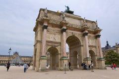 Paris. FRANCE, August 9, 2014: Arc de Triomphe du Carrousel at Tuileries Gardens Royalty Free Stock Image
