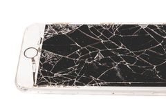 Broken iPhone 6S developed by the company Apple Inc stock photos