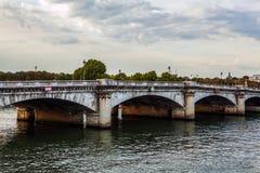 PARIS, FRANCE - AUGUST 30, 2015: The bridge Pont au Change over river Seine in Paris, France. Stock Images