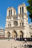The Cathedral of Notre Dame de Paris on a beautiful summer day Royalty Free Stock Photography