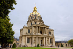 Paris. FRANCE -AUGUST 8: Chapel of Saint Louis des Invalides on August 8, 2014 in . Chapel built in 1679 is the burial site for some of France's war heroes Stock Photography