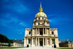 PARIS, FRANCE - AUGUST 21, 2012: Eglise Du Dome, Les Invalides, Royalty Free Stock Images