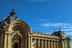PARIS - FRANCE - AUGUST 30, 2015: Famous Grand Palais Big Palace in Paris. Royalty Free Stock Photos