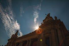 PARIS - FRANCE - AUGUST 30, 2015: Famous Grand Palais Big Palace in Paris. Stock Image