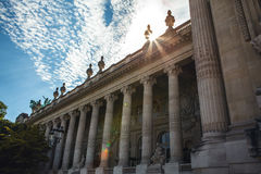 PARIS - FRANCE - AUGUST 30, 2015: Famous Grand Palais Big Palace in Paris. Royalty Free Stock Photo