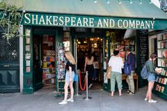 The famous Shakespeare and Company bookstore in Paris Royalty Free Stock Image