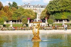 The Luxembourg Garden in Paris on a beautiful summer day royalty free stock photography
