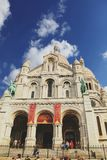 Paris, France - August 27,2017: Nice Montmatre ç the blue sky and cloud royalty free stock photos