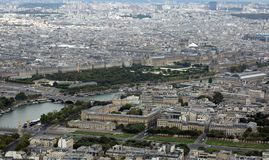 Paris, France - August 21, 2018: Panoramic view of french capi