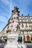 PARIS, FRANCE - AUGUST 30, 2015: Paris Park bronze sculptures of famous person Stock Photo