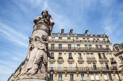 PARIS, FRANCE - AUGUST 30, 2015: Paris Park bronze sculptures of famous person Royalty Free Stock Images