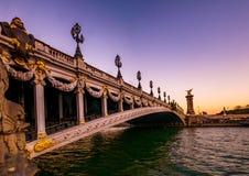 Bridge in paris stock photography