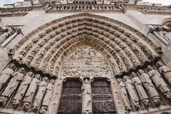 Notre Dame de Paris Cathedral Gates royalty free stock photos