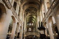 Saint-Etienne-du-Mont de Paris Interior stock photos