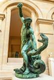 PARIS, FRANCE - AUGUST 30, 2015: Sculpture hall of the Louvre museum, Paris, France. Royalty Free Stock Photo