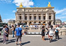 Street scene in central Paris next to the Paris Opera or Palais Garnier Stock Photo