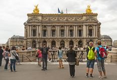 Historic Opera Garnier in Paris Royalty Free Stock Photo