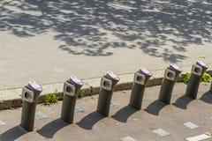 Paris, France – August 23: Velib automatic bicycle hire statio Stock Image