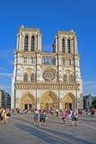 Notre Dame Cathedral, Paris. Paris, France - August 28, 2014: View of Notre Dame  Cathedral and square, the favorite travel destination in Paris Stock Images