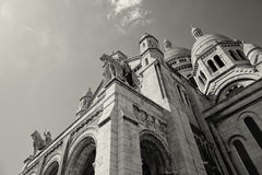 PARIS, FRANCE - Basilica of the Sacred Heart of Jesus. Seen from Montmartre hill in Paris Royalty Free Stock Photo