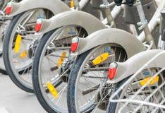 Paris, France. Bike rental along city streets Stock Image