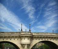Paris, France. Bridge over the River Seine Stock Photos