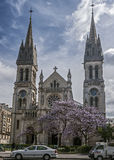 Paris, France . Church of Saint Ambroise on the Boulevard Voltai Stock Photos