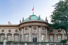 PARIS, FRANCE, CIRCA  2016 - National Museum of the Legion of Honor and orders of Chivalry, facade. Royalty Free Stock Image