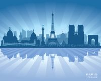 Paris France city skyline vector silhouette. Illustration vector illustration